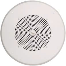 "8"" Ceiling Speaker, with Grille, White"