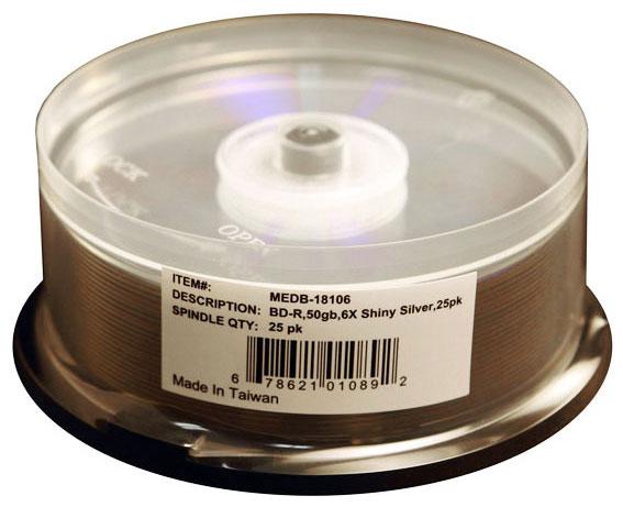 50GB Silver Lacquer Blu-Ray Media