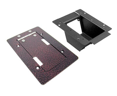 Mini Stage Pocket with Copper Vein Powder Coat Trim Bezel Lid Assembly