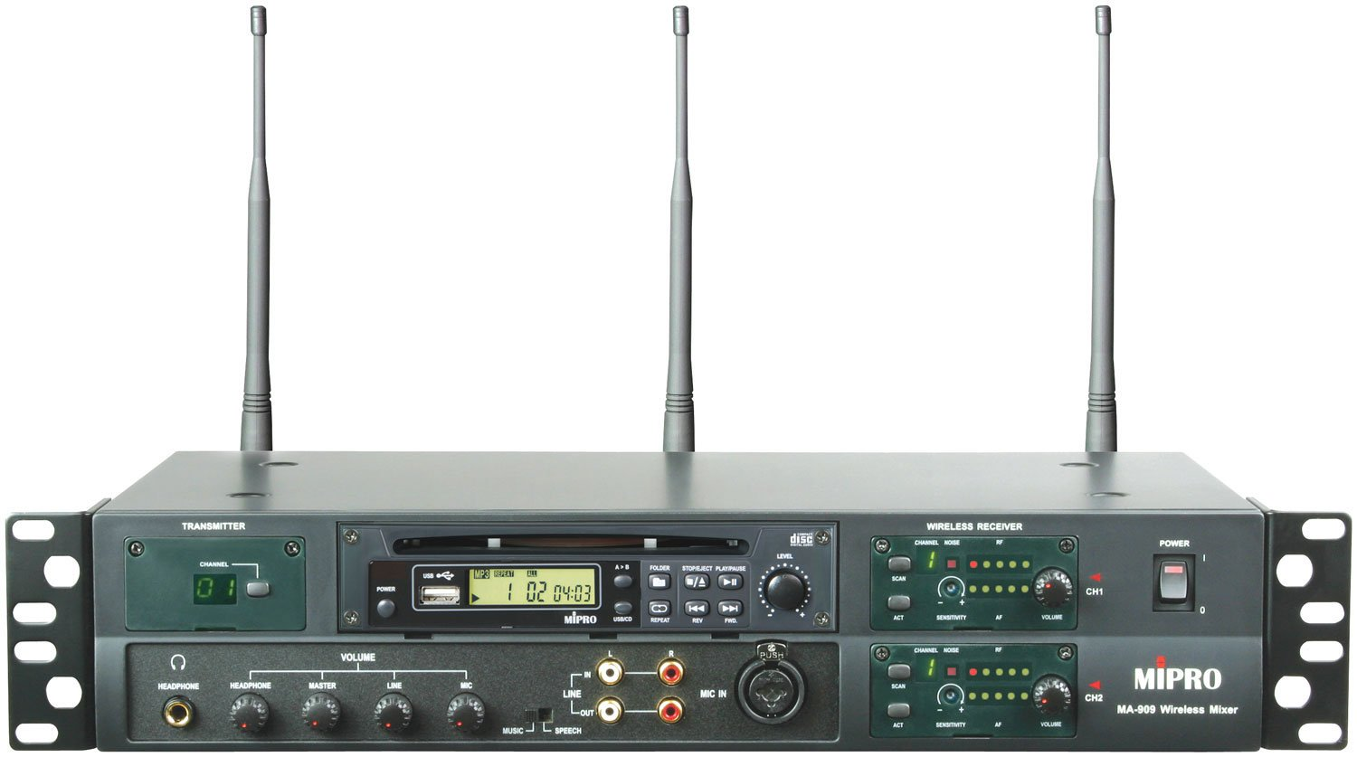 Professional Wireless Mixer with CD Player Module