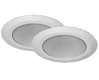 "1 Pair of 8"" Round Ceiling Speakers - 1 IP & 1 Analog"
