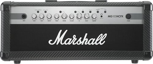 Marshall Amplification MG100HCFX-U 4-Ch 100W Solid-State Guitar Amplifier Head MG100HCFX-U