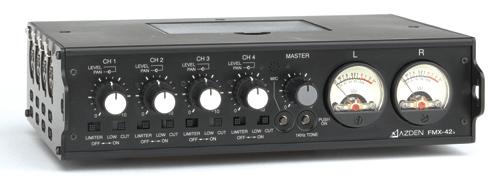 4-Ch Portable Field Mixer