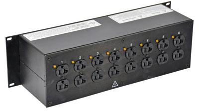 Lex Products Corp PRM3IJ-9CC  3RU Rack Mount Power Distribution, L14-30 In/Thru to Duplexes PRM3IJ-9CC