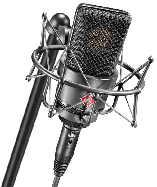 Stereo Pair of Large Diaphragm Cardioid Microphones in Matte Black Finish with EA 1 Shockmounts & Aluminum Case