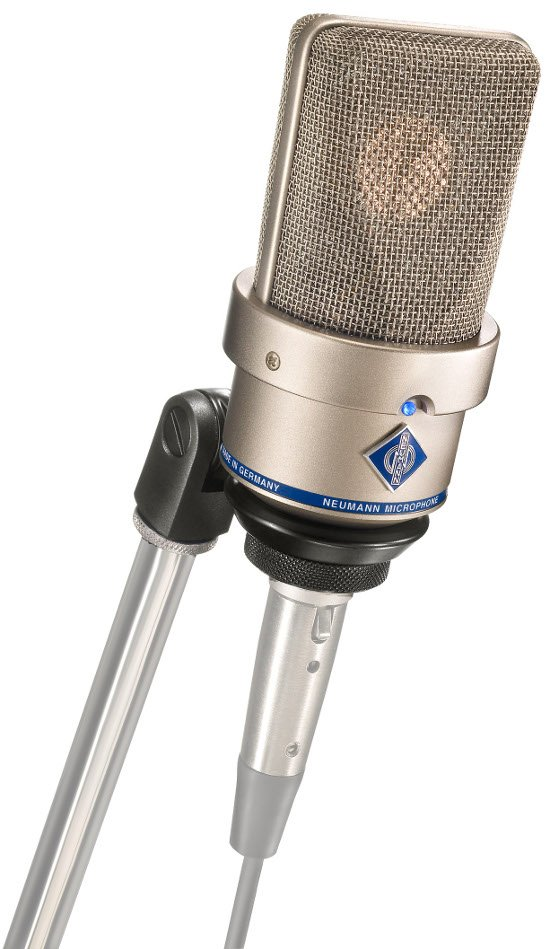 Large Diaphragm Cardioid Microphone in Satin Nickel Finish with SG1 Swivel Mount & Wood Box