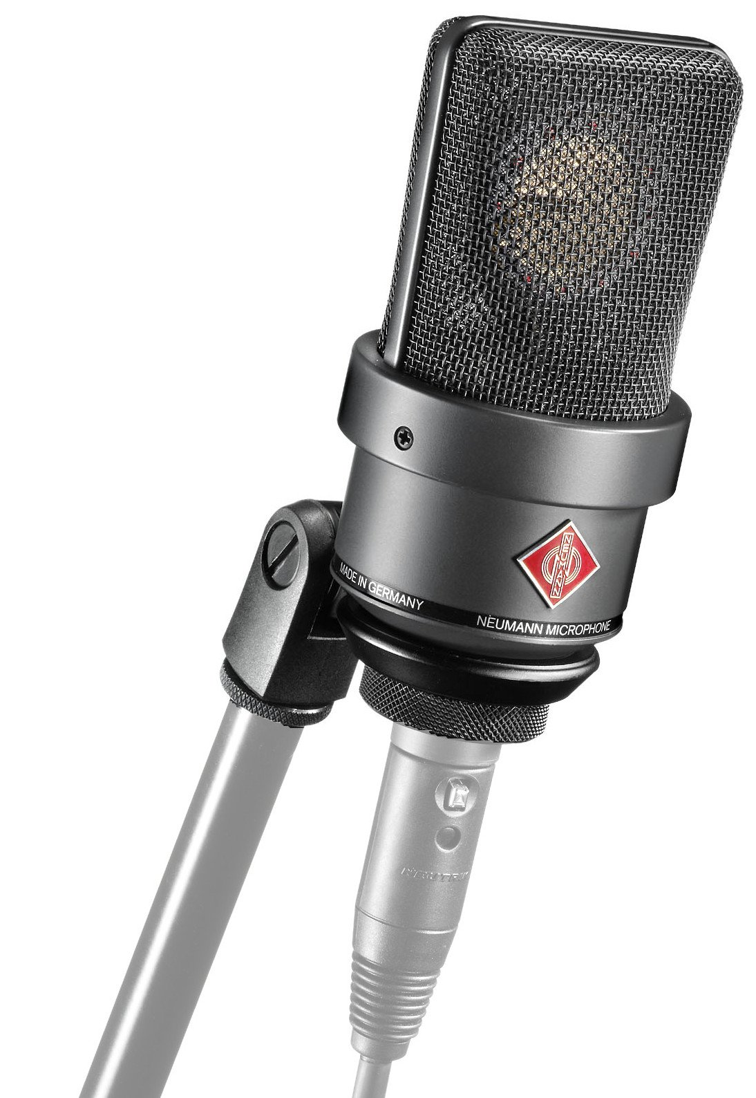 Large Diaphragm Cardioid Microphone in Matte Black Finish with SG1 Swivel Mount & Wood Box