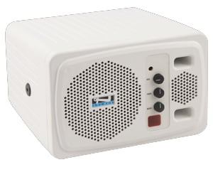 Speaker with Receiver & Remote, White