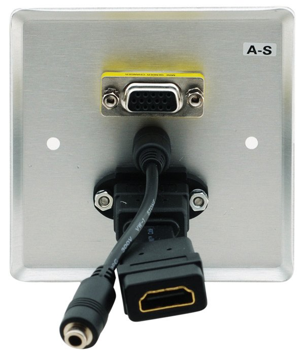 Passive Wall Plate - 15-pin HD, 3.5mm Audio & HDMI