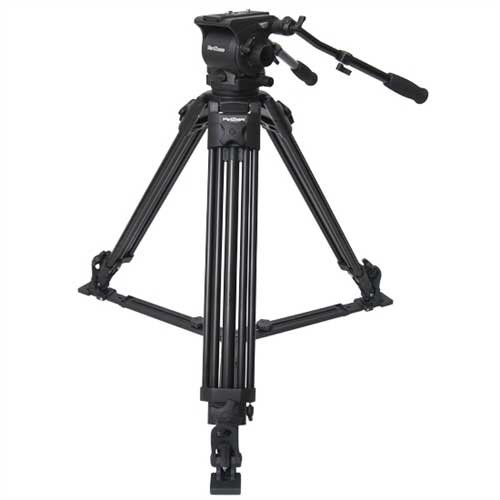 Aluminum Tripod and 100MM Head System with Spreader and Case