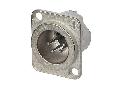 Neutrik NC4MD-LX 4-Pin XLR-M Panel Connector with Nickel Housing, Silver Contacts NC4MD-LX