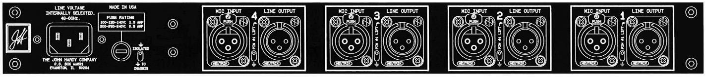 4-Channel Microphone Preamplifier