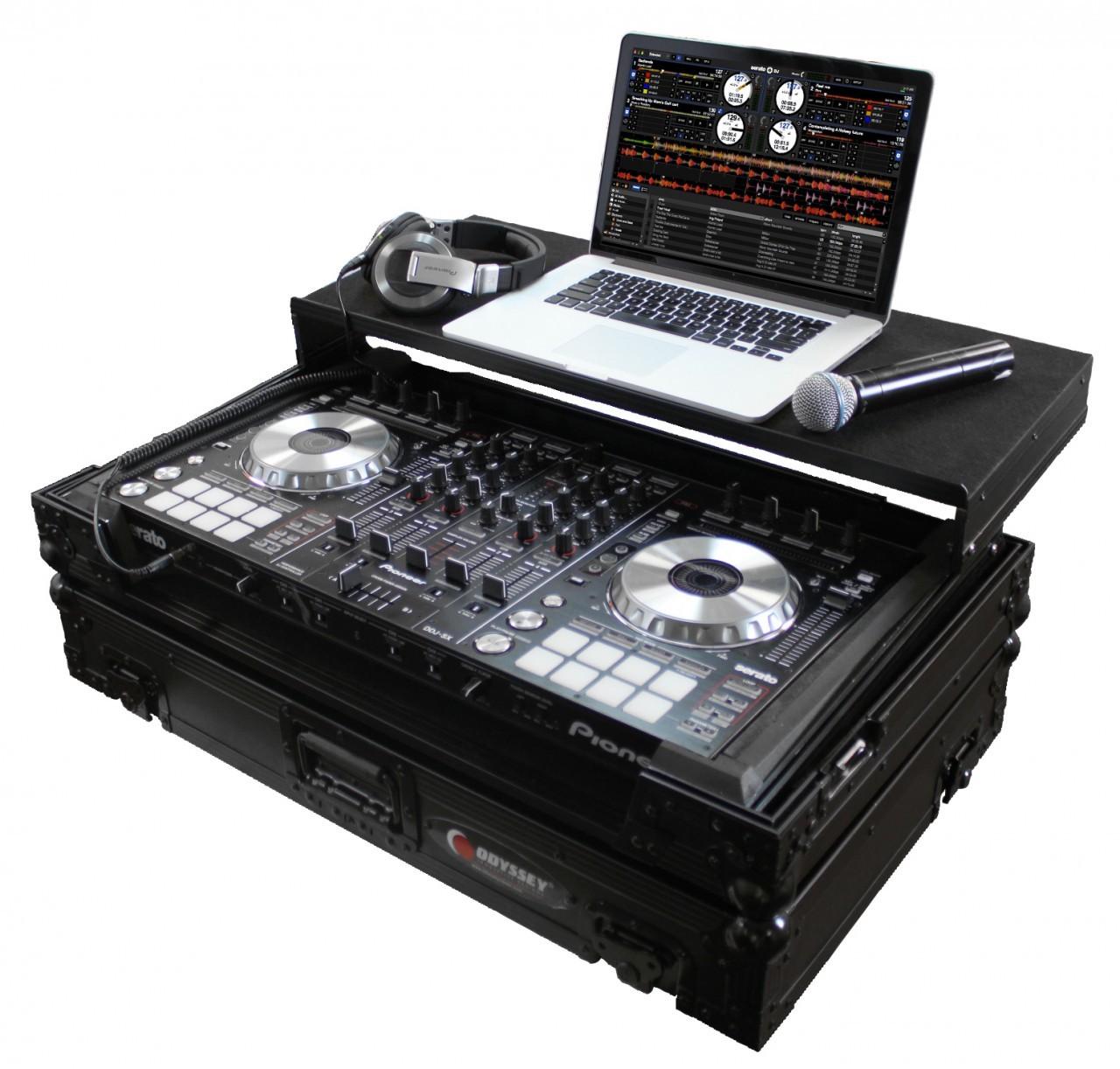 Black Label Glide Style Case for Pioneer DDJ-SX, DDJ-S1, or DDJ-T1 Controller