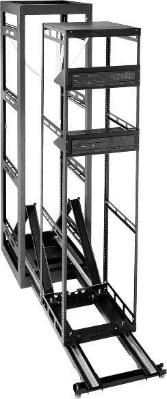 "44 Space Stand Alone 27"" Deep Rack with Door"