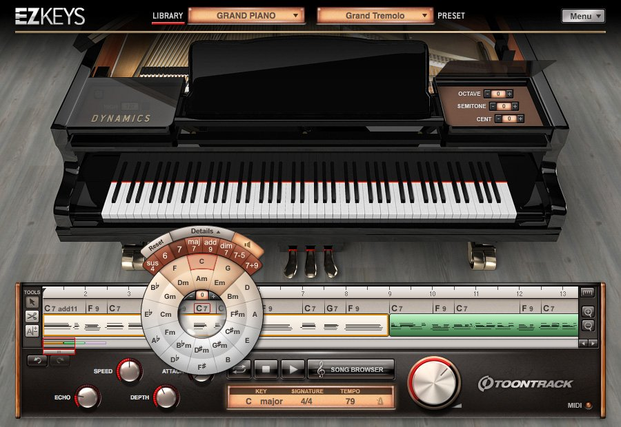 Toontrack EZ-KEYS-GRAND Grand Piano Software Instrument (Electronic Delivery) EZ-KEYS-GRAND