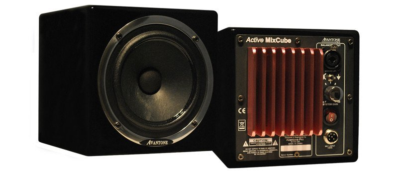 Avantone MIXCUBE-AB Pair of Powered Near-Field Monitors in Black MIXCUBE-AB