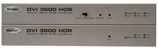 DVI/USB 2.0/RS-232/Analog Audio Extender