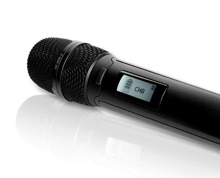 Sennheiser SKM9000 NI COM Handheld Transmitter with Command Button, Nickel, No Mic Head SKM9000-NI-COM