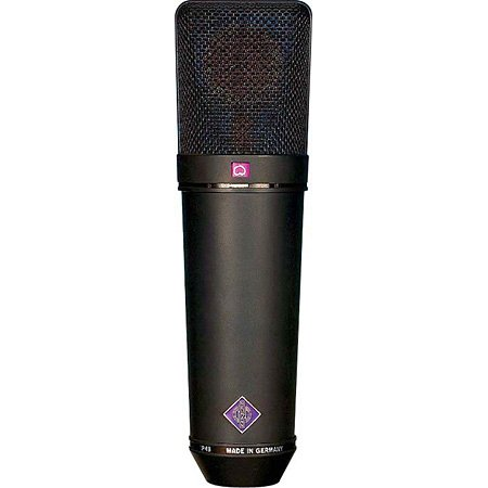 Multipattern Large Dual Diaphragm Condenser Microphone in Matte Black Finish with Wood Case, EA 87 Shock Mount, WS 87 Windscreen, & IC 3/25 Cable