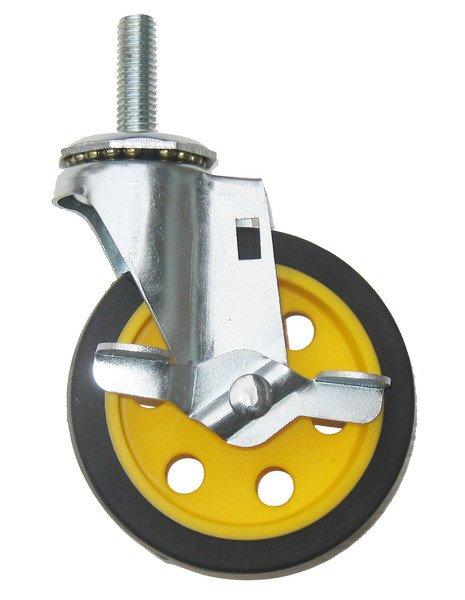 "4""x1"" Replacement Caster with Brake for R-2 & R-6 Multi-Carts"