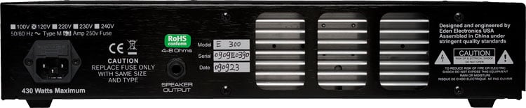 300W Solid-State Bass Amplifier Head