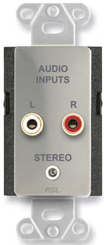 Stainless Steel Stere Audio Input Connector Plate