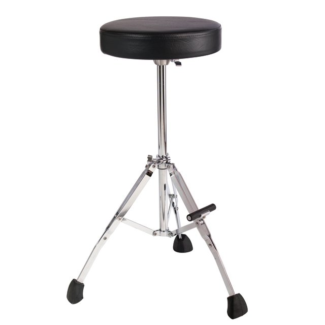 "21"" Fixed Height Drum Throne with Round Set, Fold-Up Tripod, Foot Rest"