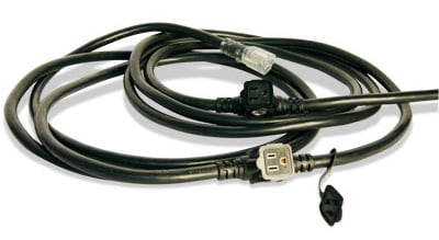 Lex Products Corp 50123B Black 15 Amp E-String with (3) NEMA 5-15 Receptacles 50123B