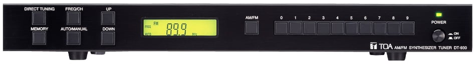 Frequency-Synthesized AM/FM Stereo Tuner with 40 Memory Presets