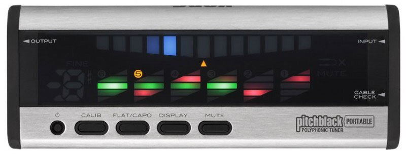 Korg Pitchblack Portable Polyphonic Tuner in Silver PB04SI