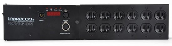 "Leprecon 90-40-0004 W-D6 Watson Power Manager with 19"" Enclosure and (6) Duplex Outlets 90-40-0004"