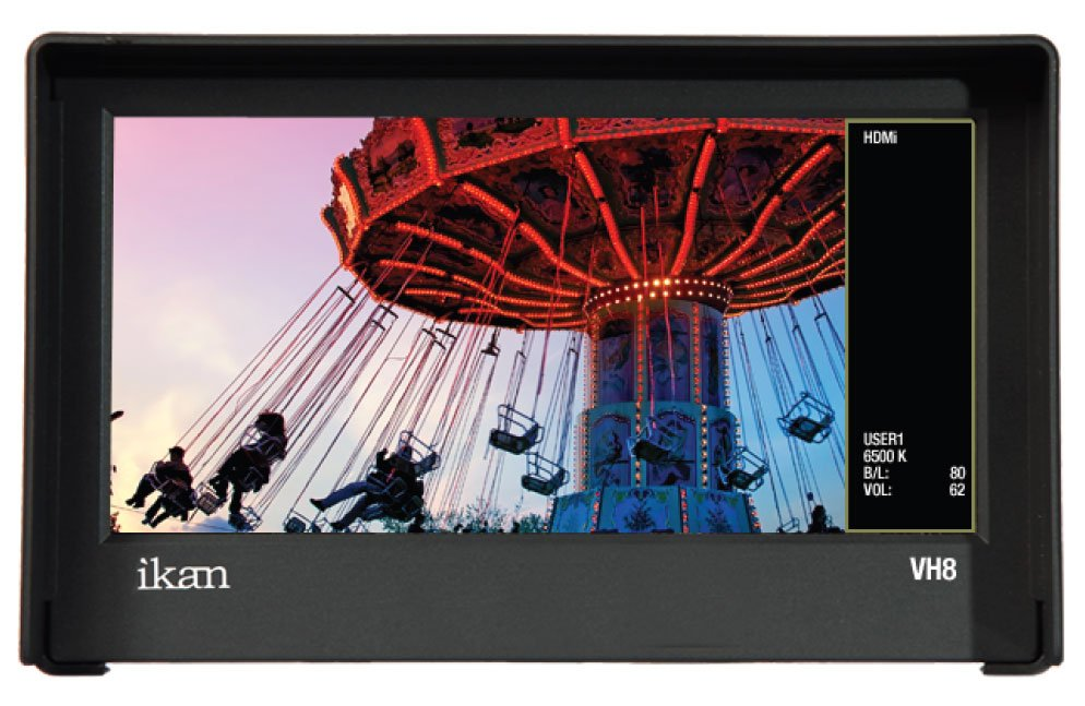 "8"" HDMI Monitor with HD Panel, Sony ""BP-U"" Series adapter"