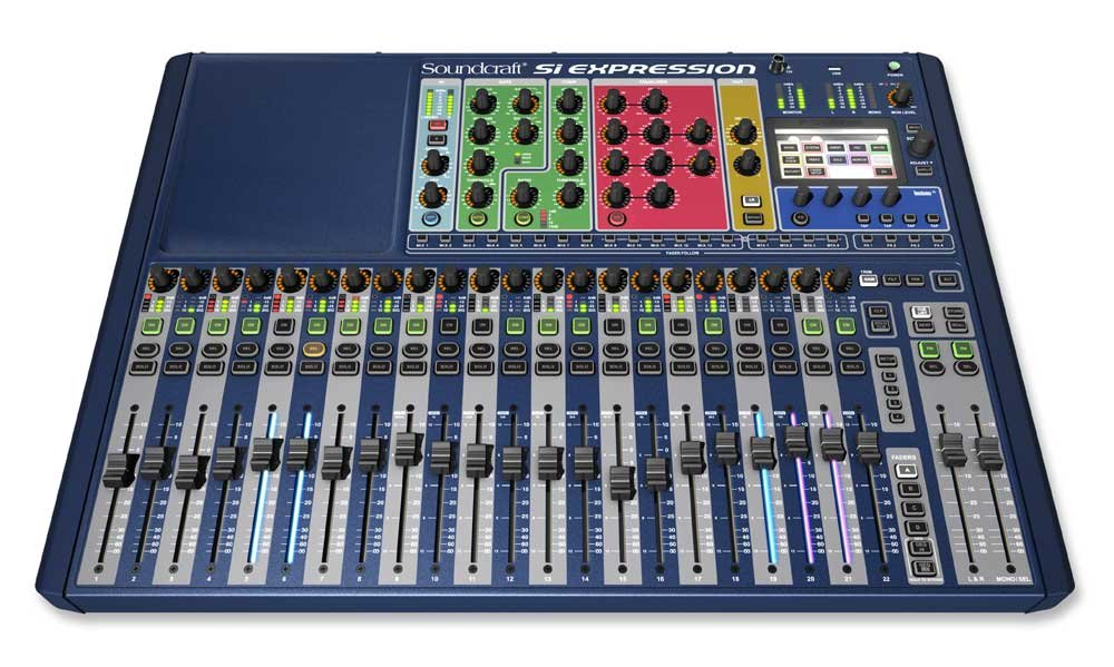 Soundcraft Si Expression 2 24-Channel Digital Live Sound Mixing Console SI-EXPRESSION-2