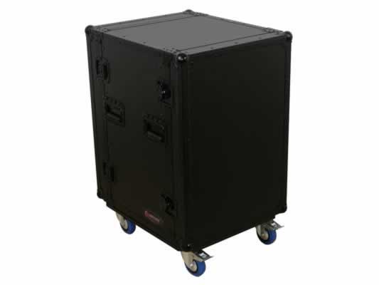 16RU Black Label Amp Rack Case with Wheels