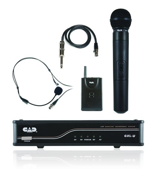 Dual UHF Wireless Microphone System, 1 Handheld & 1 Bodypack