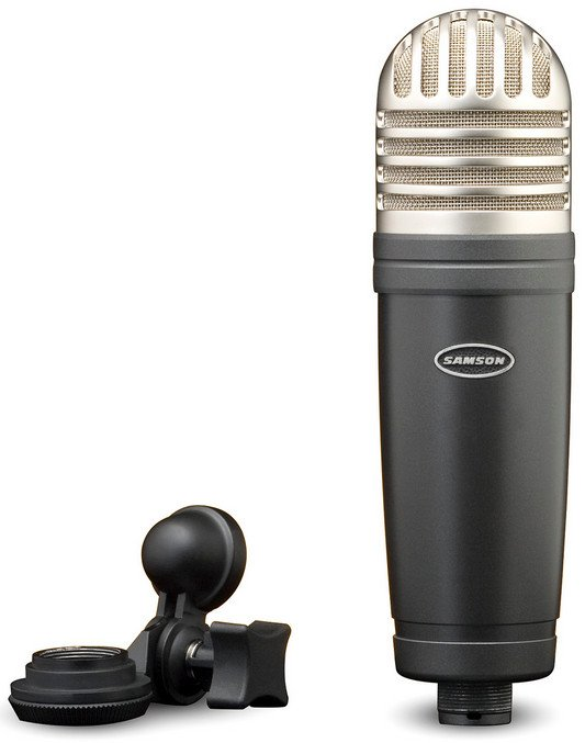 Large Diaphragm Studio Cardioid Condenser Microphone with Mic Clip