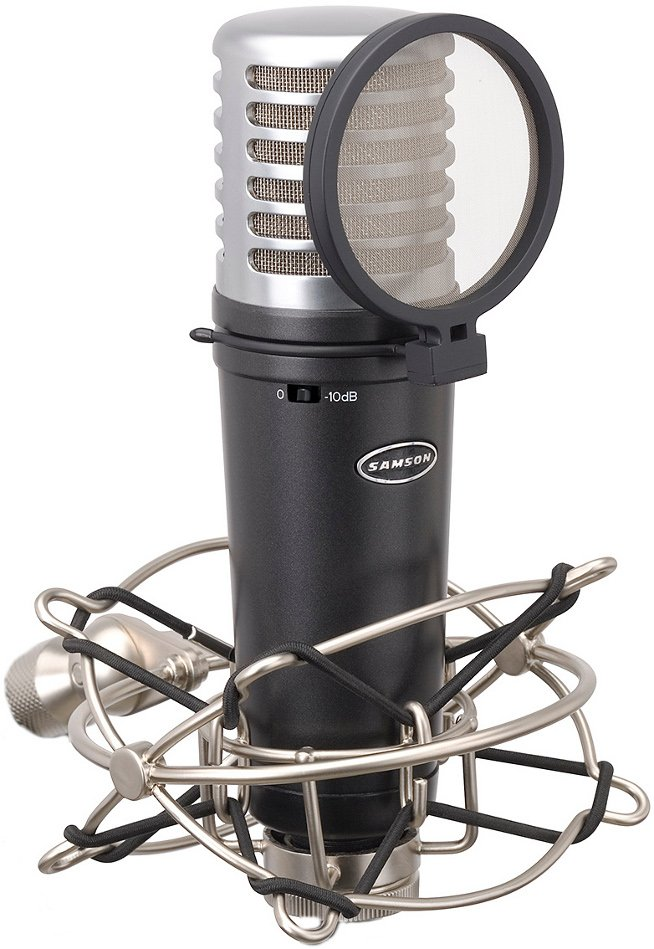 Condenser Microphone with Shockmount, Pop Filter, Case