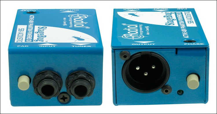 Compact Active DI Box for Acoustic Guitars