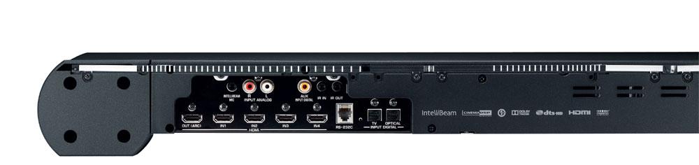 Digital Sound Projector Soundbar in Black with 4x HDMI In