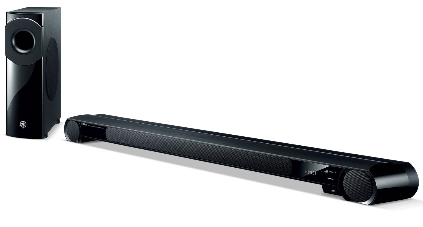 Digital Sound Projector Soundbar in Black with 4x HDMI In