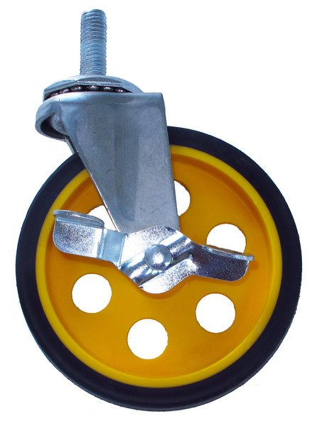 """5"""" x 1.25"""" G-Force Caster with Brake for R-8, R-10 Multi-Carts"""
