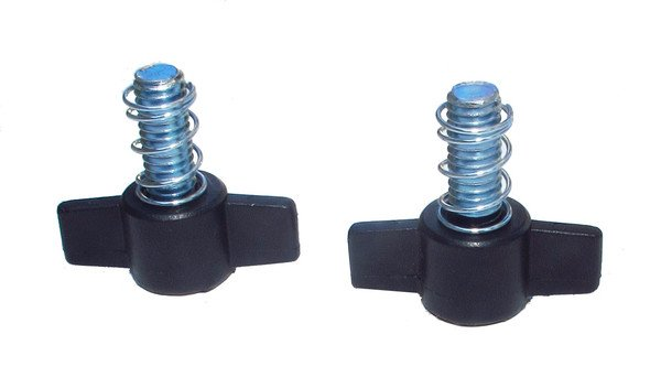"Two 3/8"" Wingbolts with Springs for Multi-Cart Shelves"