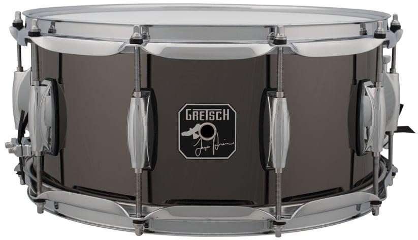 """6.5"""" x14"""" Taylor Hawkins Signature 10 Lug Steel Snare Drum"""