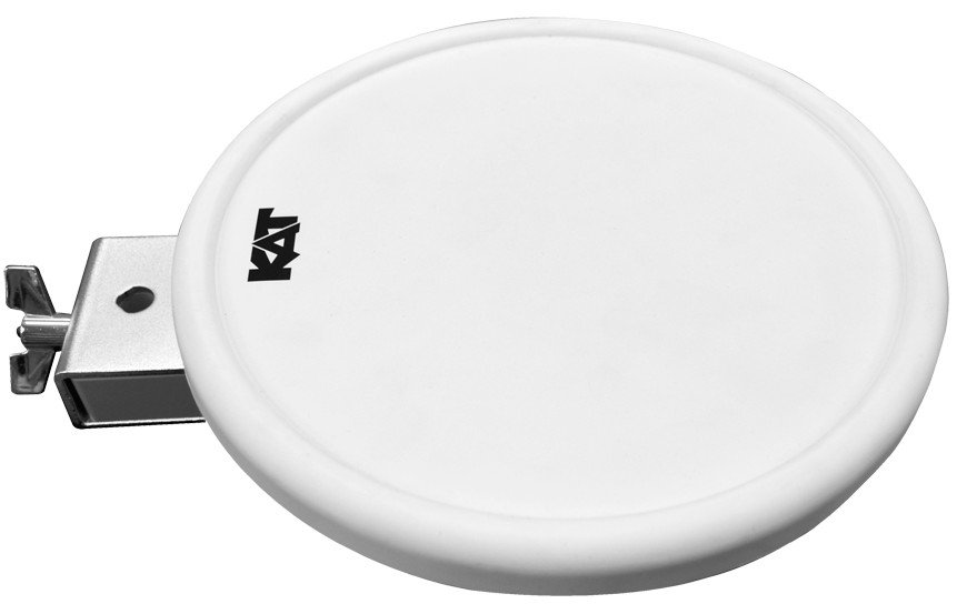 "9"" White Dual Zone Pad Expansion Kit for the KT2 Digital Drum Kit"