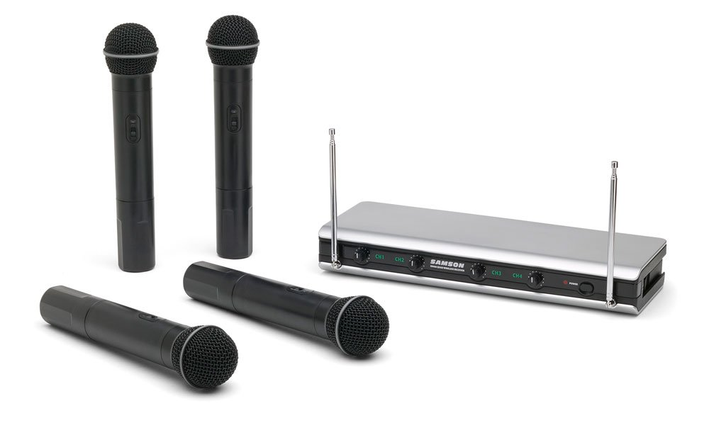 Quad Handheld Wireless Microphone System, Ch A1-A4
