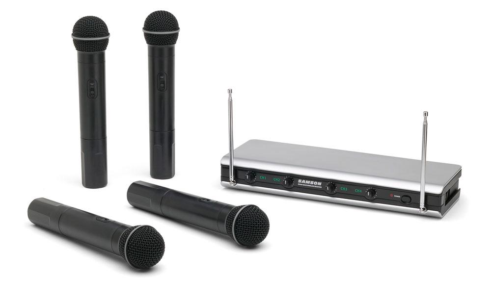 Quad Handheld Wireless Microphone System, Ch B1-B4