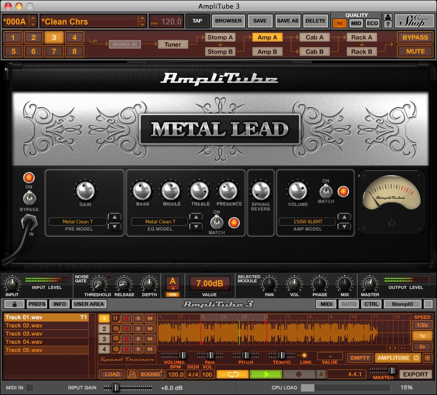 Metal Distortion Guitar Software Plug-in (Electronic Delivery)