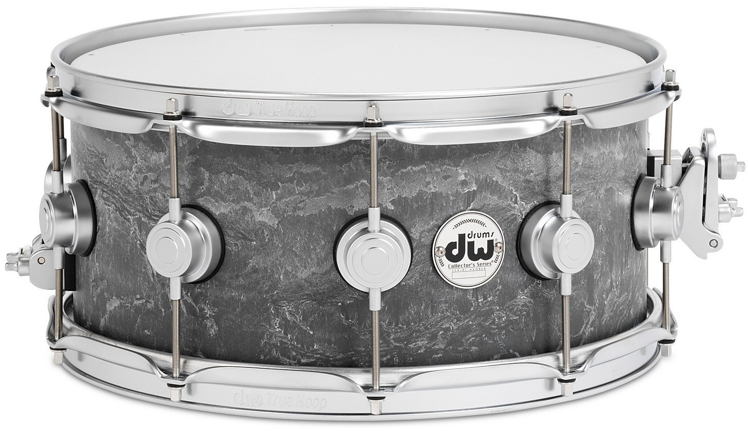 """Collector's Series 6.5""""x14"""" Concrete Snare Drum with Satin Chrome Hardware"""
