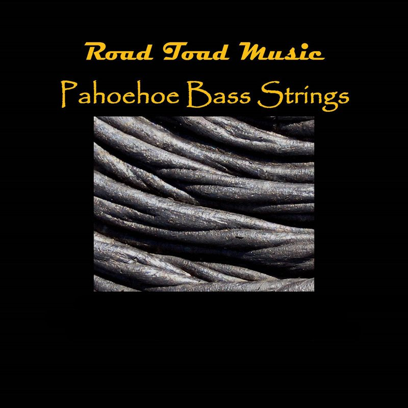 Road Toad Pahoehoe Black Polyurethane 4-String Set for U-BASS™