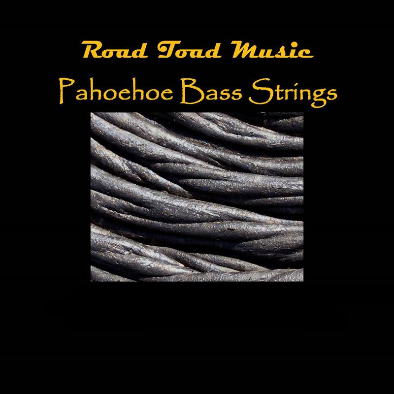 Kala Brand Music Co. RT-BASS-5-STRING-SET Toad Pahoehoe Black Polyurethane 5-String Set for U-Bass RT-BASS-5STRING